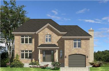 3-Bedroom, 1626 Sq Ft European Home Plan - 158-1167 - Main Exterior