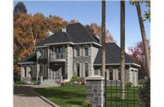 This is a front elevation for these Luxury House Plans.