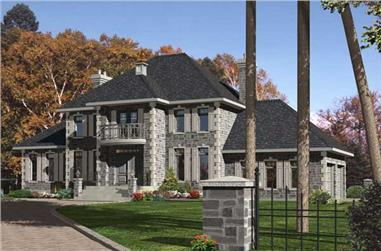4-Bedroom, 3269 Sq Ft European Home Plan - 158-1169 - Main Exterior