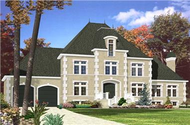 3-Bedroom, 2472 Sq Ft European House Plan - 158-1170 - Front Exterior