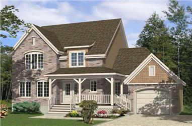 3-Bedroom, 1482 Sq Ft Country House Plan - 158-1171 - Front Exterior