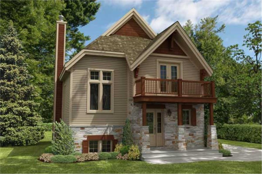 3-Bedroom, 1412 Sq Ft Craftsman House Plan - 158-1172 - Front Exterior