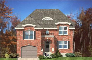 3-Bedroom, 2129 Sq Ft European Home Plan - 158-1174 - Main Exterior