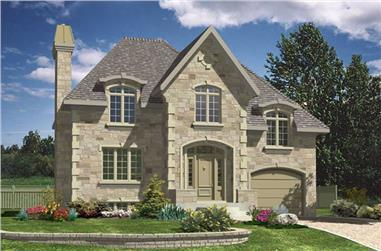 3-Bedroom, 1424 Sq Ft European House Plan - 158-1175 - Front Exterior