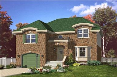 3-Bedroom, 2089 Sq Ft European Home Plan - 158-1177 - Main Exterior