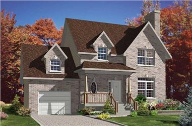 3-Bedroom, 1510 Sq Ft Country House Plan - 158-1179 - Front Exterior
