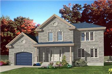 3-Bedroom, 2152 Sq Ft European House Plan - 158-1180 - Front Exterior