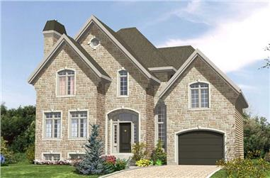 3-Bedroom, 1553 Sq Ft European Home Plan - 158-1181 - Main Exterior