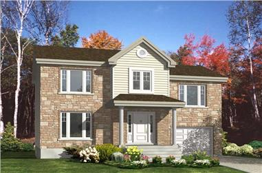 3-Bedroom, 1576 Sq Ft European Home Plan - 158-1184 - Main Exterior