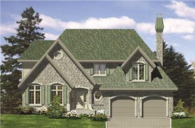 4-Bedroom, 2249 Sq Ft Country House Plan - 158-1186 - Front Exterior