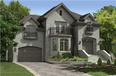 3-Bedroom, 2029 Sq Ft Country House Plan - 158-1187 - Front Exterior