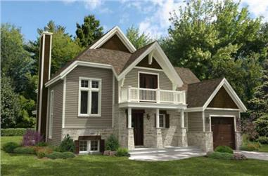 4-Bedroom, 1888 Sq Ft Contemporary House Plan - 158-1188 - Front Exterior