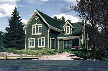 3-Bedroom, 1871 Sq Ft Country House Plan - 158-1190 - Front Exterior