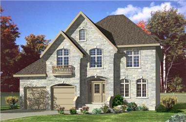 4-Bedroom, 2447 Sq Ft Country House Plan - 158-1191 - Front Exterior
