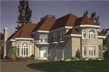 4-Bedroom, 3338 Sq Ft European House Plan - 158-1192 - Front Exterior