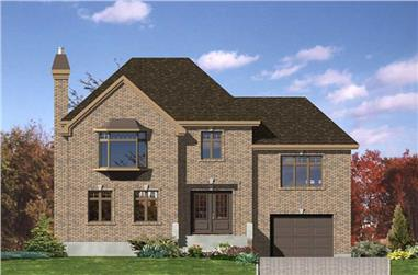 3-Bedroom, 1925 Sq Ft European House Plan - 158-1195 - Front Exterior