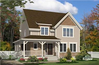 3-Bedroom, 1475 Sq Ft Country House Plan - 158-1196 - Front Exterior