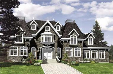 3-Bedroom, 2783 Sq Ft European House Plan - 158-1197 - Front Exterior