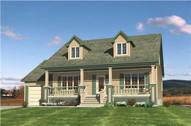 3-Bedroom, 1565 Sq Ft Country Home Plan - 158-1199 - Main Exterior