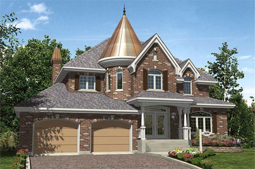 4-Bedroom, 2406 Sq Ft Contemporary House Plan - 158-1201 - Front Exterior