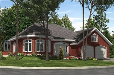 2-Bedroom, 1399 Sq Ft Ranch House Plan - 158-1203 - Front Exterior