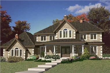 4-Bedroom, 2679 Sq Ft Country Home Plan - 158-1204 - Main Exterior