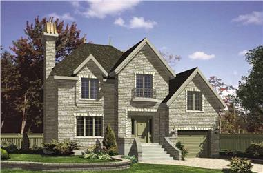 3-Bedroom, 1405 Sq Ft European House Plan - 158-1205 - Front Exterior