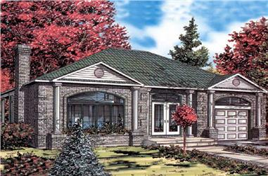 3-Bedroom, 1282 Sq Ft Ranch House Plan - 158-1210 - Front Exterior
