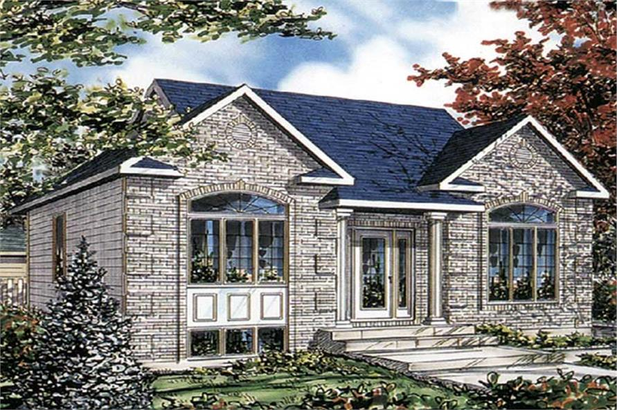 2-Bedroom, 1008 Sq Ft Ranch House Plan - 158-1211 - Front Exterior