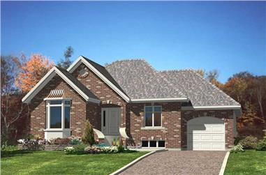 2-Bedroom, 1024 Sq Ft Country Home Plan - 158-1212 - Main Exterior