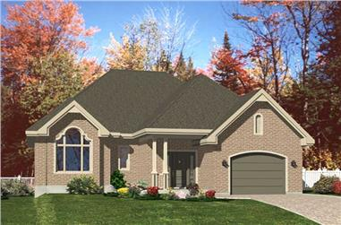 2-Bedroom, 1632 Sq Ft Contemporary Home Plan - 158-1214 - Main Exterior