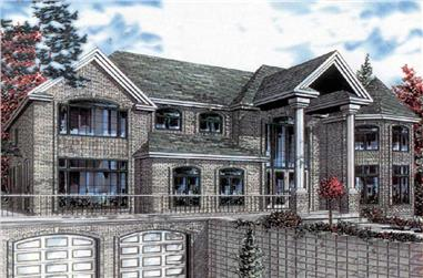 5-Bedroom, 3816 Sq Ft European Home Plan - 158-1216 - Main Exterior