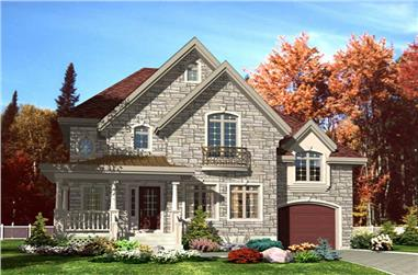 3-Bedroom, 1566 Sq Ft European House Plan - 158-1217 - Front Exterior