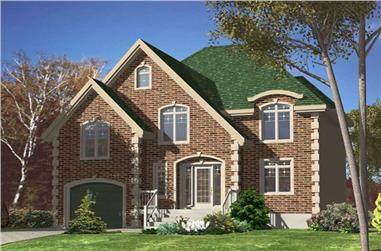 3-Bedroom, 1806 Sq Ft European House Plan - 158-1218 - Front Exterior