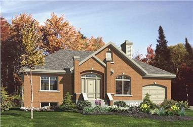 3-Bedroom, 1083 Sq Ft European House Plan - 158-1220 - Front Exterior