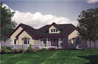 2-Bedroom, 1748 Sq Ft Ranch House Plan - 158-1224 - Front Exterior