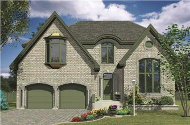 4-Bedroom, 2742 Sq Ft Contemporary Home Plan - 158-1225 - Main Exterior