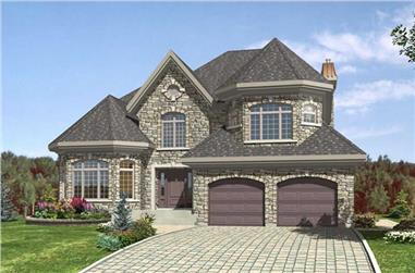 4-Bedroom, 2699 Sq Ft European Home Plan - 158-1226 - Main Exterior