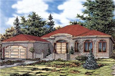 2-Bedroom, 1767 Sq Ft Bungalow Home Plan - 158-1228 - Main Exterior