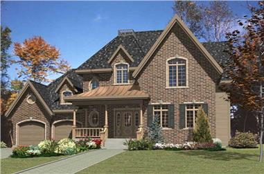 1-Bedroom, 2148 Sq Ft Victorian Home Plan - 158-1229 - Main Exterior