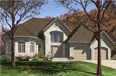 1-Bedroom, 1568 Sq Ft Contemporary Home Plan - 158-1230 - Main Exterior