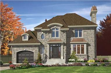 3-Bedroom, 1708 Sq Ft Contemporary Home Plan - 158-1231 - Main Exterior