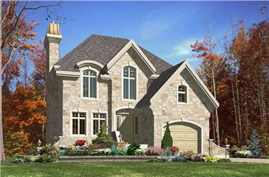 3-Bedroom, 1624 Sq Ft European Home Plan - 158-1232 - Main Exterior