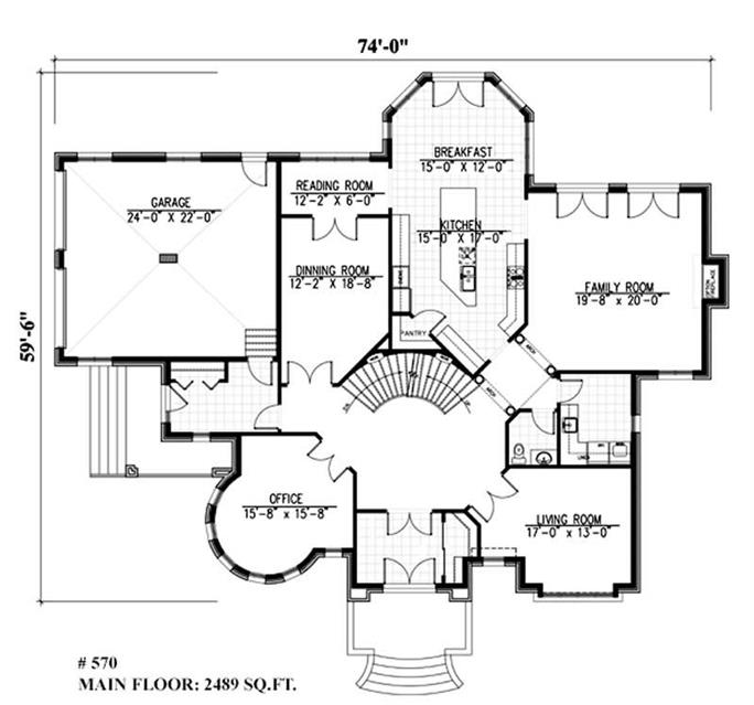Luxury, Victorian, European House Plans - Home Design Pdi-570 # 9385