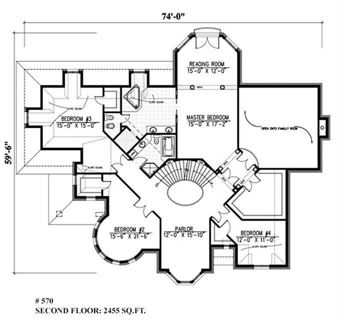 Luxury, Victorian, European House Plans - Home Design Pdi-570 # 9385