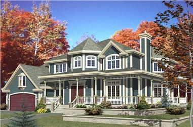 1-Bedroom, 2846 Sq Ft Luxury Home Plan - 158-1235 - Main Exterior