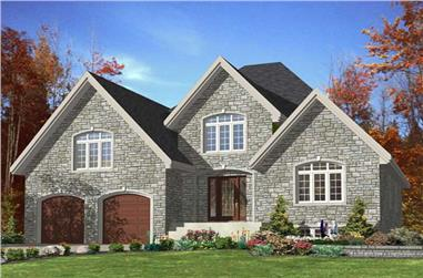 2-Bedroom, 1524 Sq Ft European House Plan - 158-1236 - Front Exterior