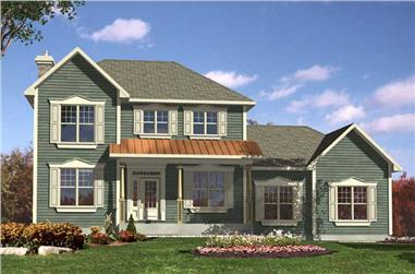 3-Bedroom, 1945 Sq Ft Country Home Plan - 158-1237 - Main Exterior