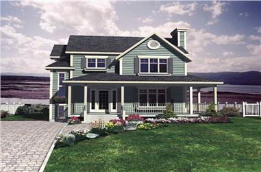 3-Bedroom, 1395 Sq Ft Country House Plan - 158-1238 - Front Exterior