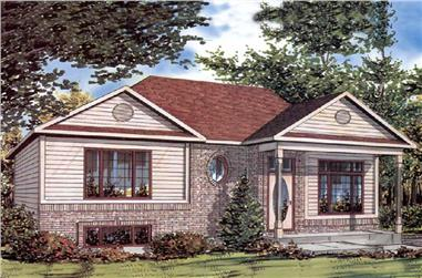 3-Bedroom, 982 Sq Ft Ranch Home Plan - 158-1239 - Main Exterior